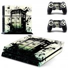 Tardis Wallpaper design decal for PS4 console skin sticker decal-design
