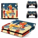 Air force pin up girl design decal for PS4 console skin sticker decal-design
