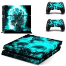 Fire Skulls Live design decal for PS4 console skin sticker decal-design