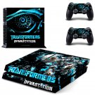 Transformers Devastation design decal for PS4 console skin sticker decal-design