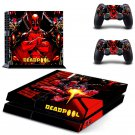 Dead Pool design decal for PS4 console skin sticker decal-design