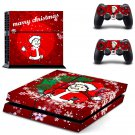 Merry Christmas design decal for PS4 console skin sticker decal-design