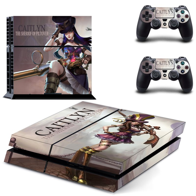 Caitlyn the sheriff of piltover design decal for PS4 console skin sticker decal-design