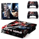 Civil War Captain America design decal for PS4 console skin sticker decal-design