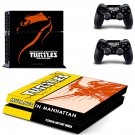 Mutans in Manhattan Turtles design decal for PS4 console skin sticker decal-design