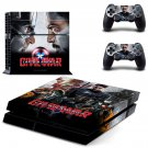 Captain America Civil War design decal for PS4 console and controllers