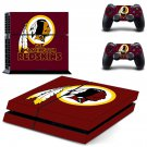 Washington redskins decal for PS4 PlayStation 4 console and 2 controllers