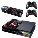 Captain america civil war skin decal for  Xbox one console and 2 controllers