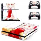 Cartoon Girls decal for PS4 PlayStation 4 console and 2 controllers