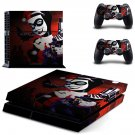 Harley Quinn and joker decal for PS4 PlayStation 4 console and 2 controllers
