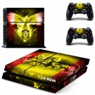 Real Federation decal for PS4 PlayStation 4 console and 2 controllers