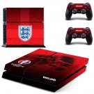 England National football team decal for PS4 PlayStation 4 console and 2 controllers