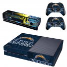 Football Club Chargers skin decal for  Xbox one console and 2 controllers