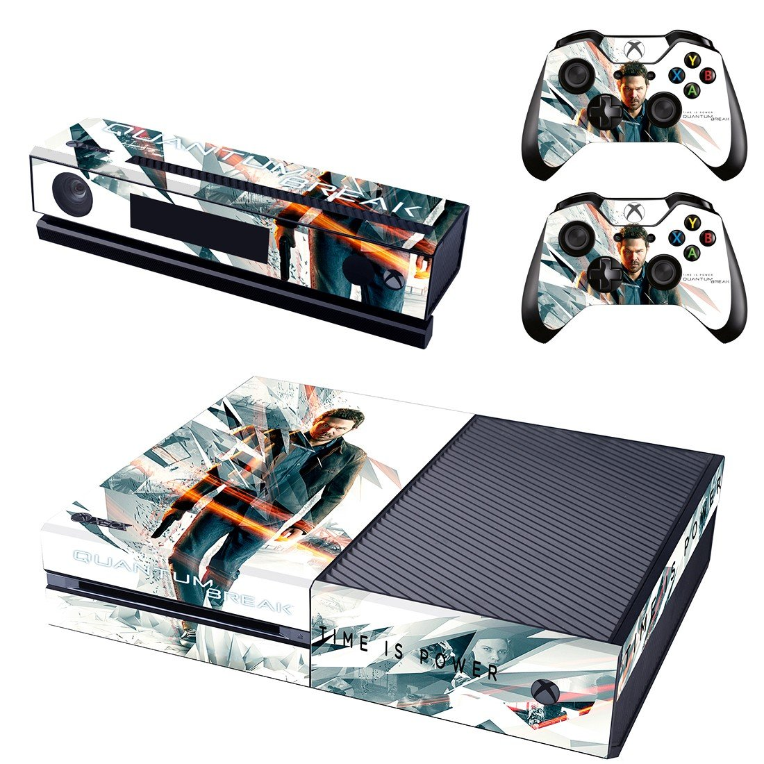 Quantum Break skin decal for  Xbox one console and 2 controllers