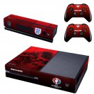 Euro2016 France England skin decal for  Xbox one console and 2 controllers
