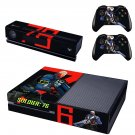 Soldier 76 skin decal for  Xbox one console and 2 controllers