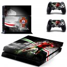 portugal national football team ps4 skin decal for console and controllers