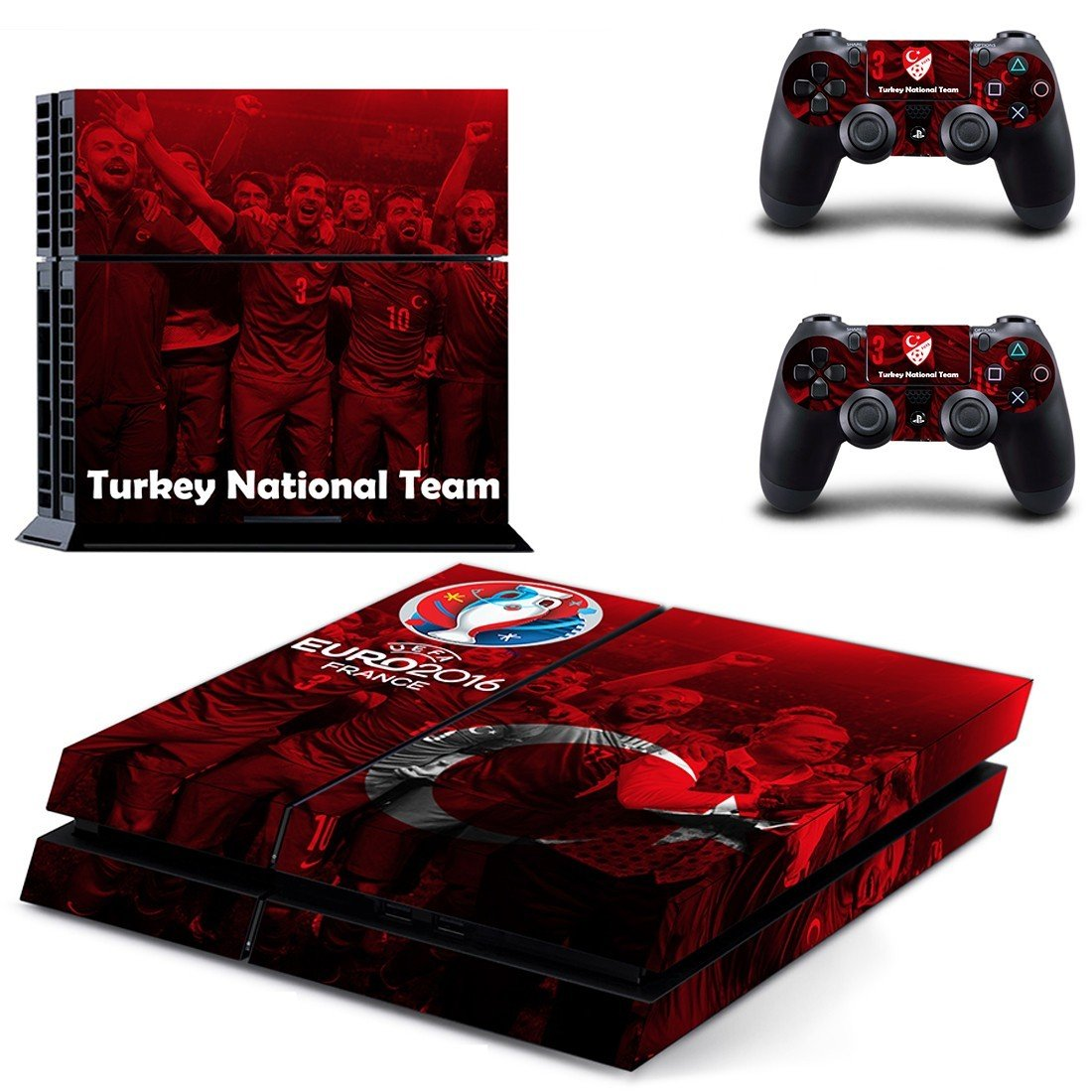 turkey national team ps4 skin decal for console and controllers