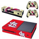 st louis cardinals skin decal for  Xbox one console and controllers