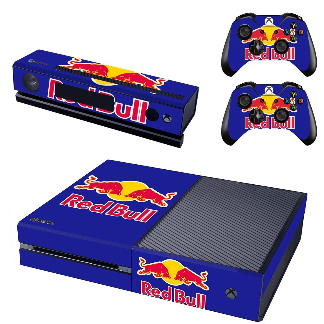 redbull skin decal for  Xbox one console and controllers
