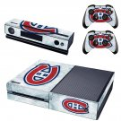 nashville predators vs montreal canadiensl skin decal for  Xbox one console and controllers