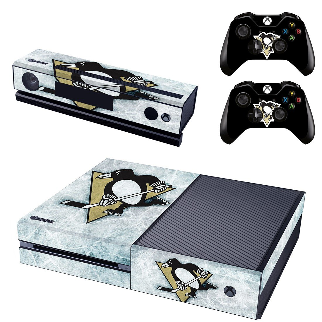 cartoon penguin skin decal for  Xbox one console and controllers