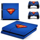 superman logo ps4 skin decal for console and controllers
