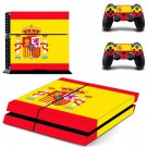 official flag of spain ps4 skin decal for console and controllers