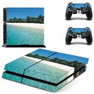 sea beach scenery ps4 skin decal for console and controllers
