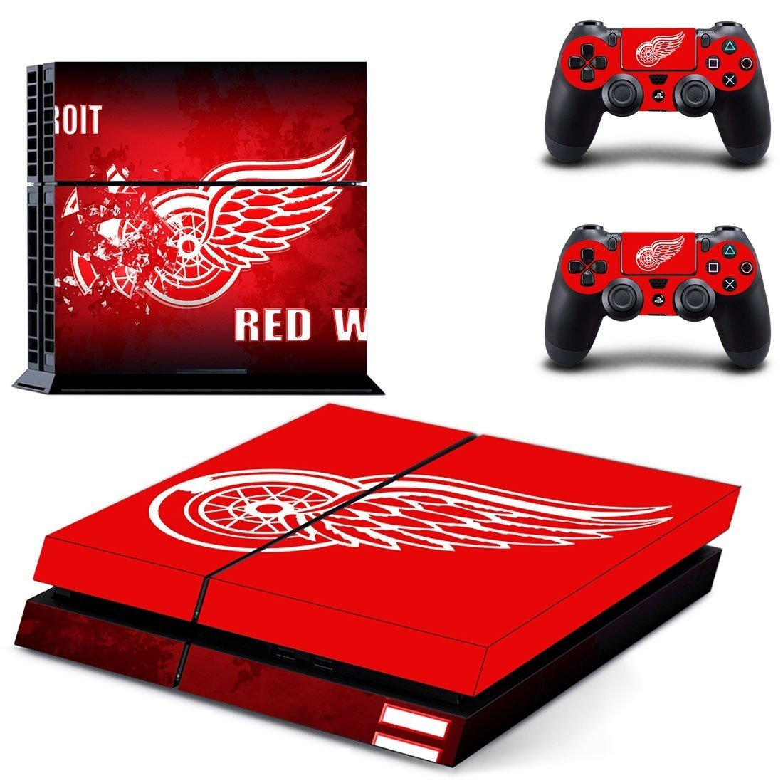 detroit red wings ps4 skin decal for console and controllers