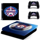 texas rangers baseball team ps4 skin decal for console and controllers