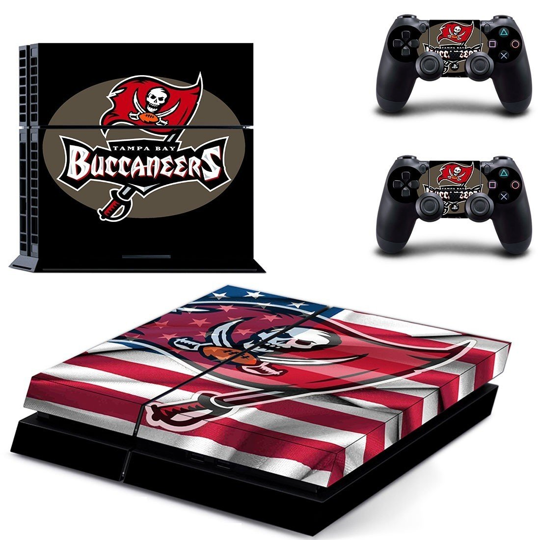 tampa bay buccaneers ps4 skin decal for console and controllers