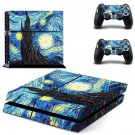 vincent van gogh paintings ps4 skin decal for console and controllers