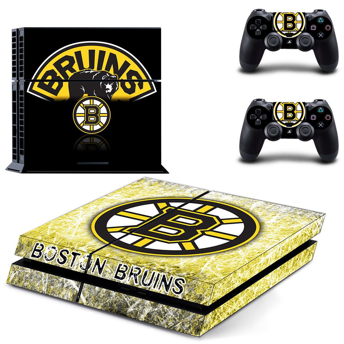 boston bruins ps4 skin decal for console and controllers