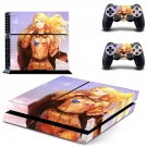 american girl cartoon soldier ps4 skin decal for console and controllers
