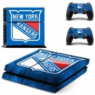 newyork rangers ice hockery team ps4 skin decal for console and controllers