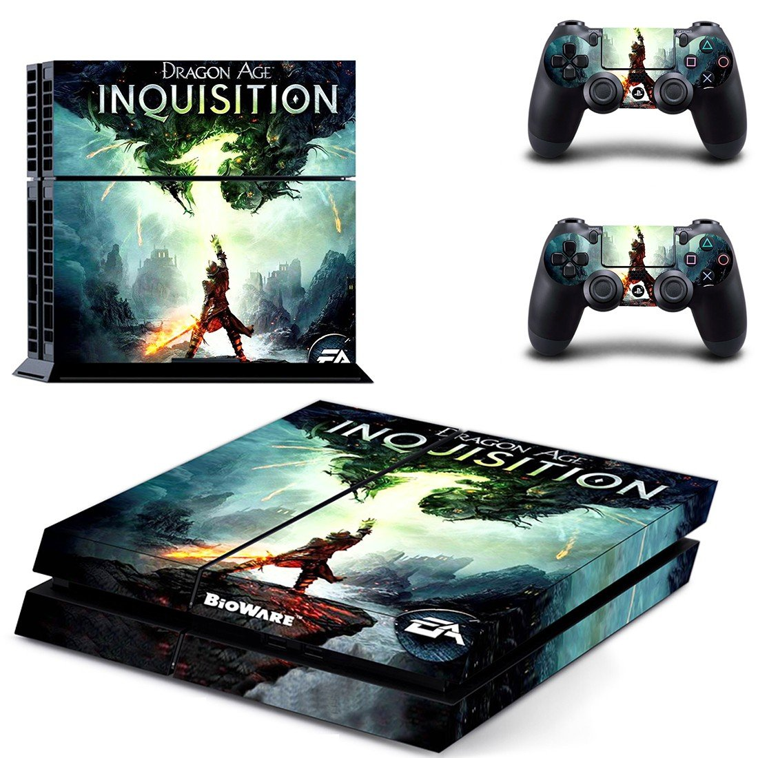 dragon age inquisition ps4 skin decal for console and controllers