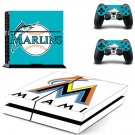 miami marlins baseball team ps4 skin decal for console and controllers