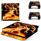 flame man ps4 skin decal for console and controllers