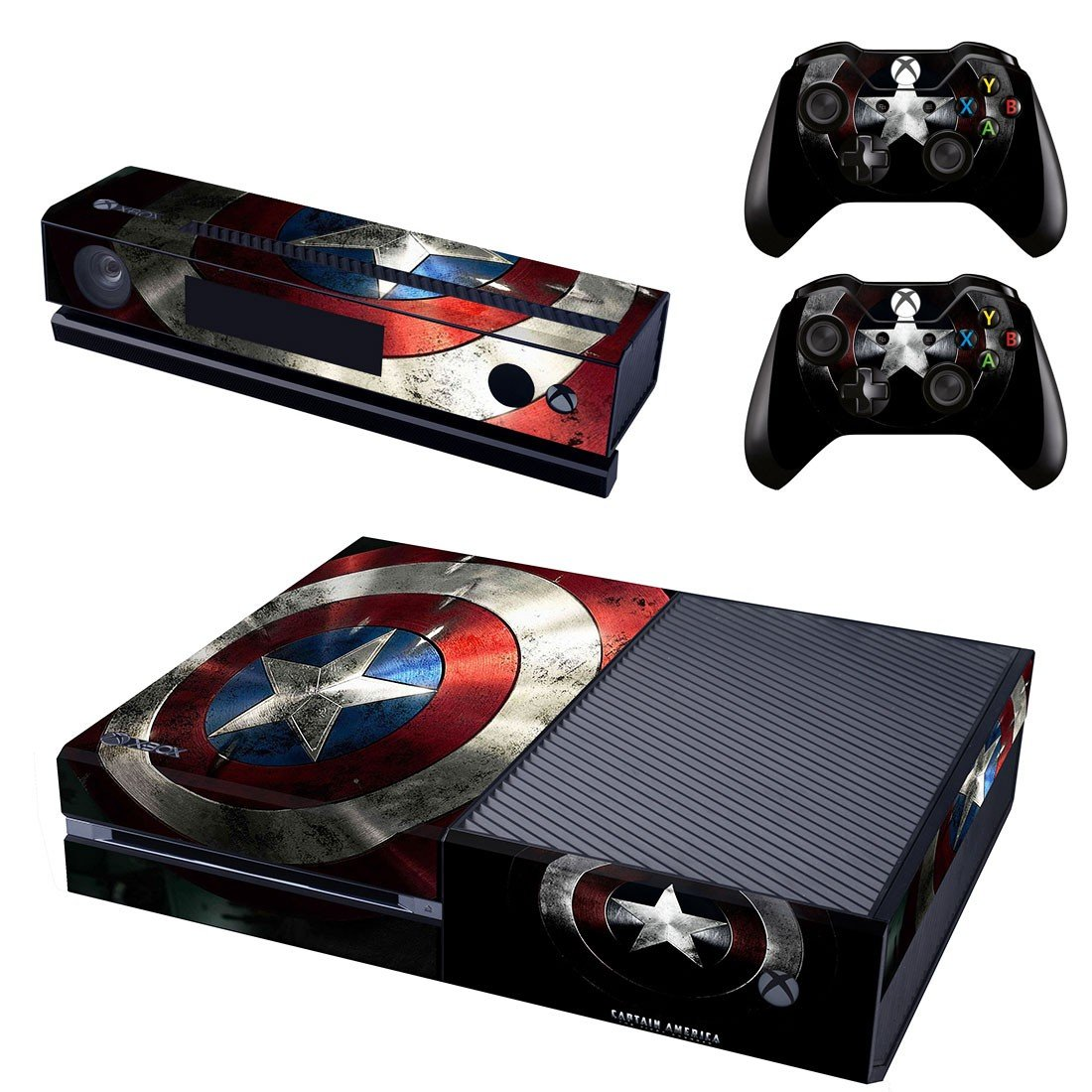 captain america skin decal for  Xbox one console and controllers