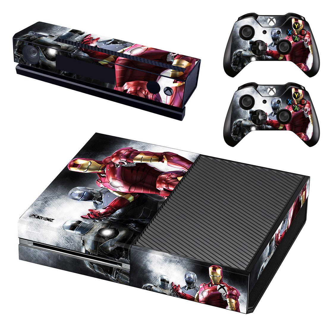 ironman skin decal for  Xbox one console and controllers