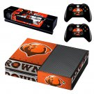 cleveland browns football team skin decal for  Xbox one console and controllers