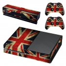 blurry uk flag skin decal for  Xbox one console and controllers