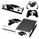 winter is coming stark skin decal for  Xbox one console and controllers