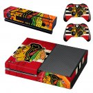 chicago blackhawks skin decal for Xbox one console and controllers