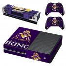 minnesota vikings skin decal for Xbox one console and controllers