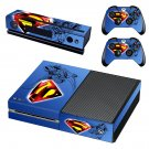 superman skin decal for Xbox one console and controllers