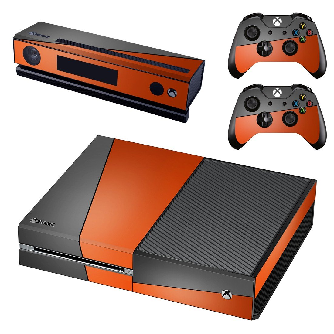 red gray skin decal for Xbox one console and controllers