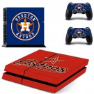 houston astros ps4 skin decal for console and controllers