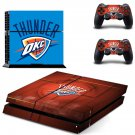 oklahoma city thunder ps4 skin decal for console and controllers